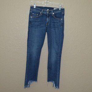 Sz 27 Rag & Bone Hampton Destroyed Capri Jeans